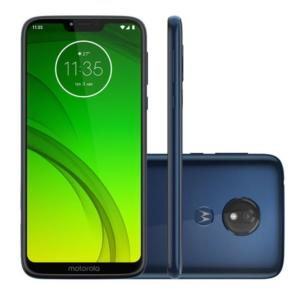"Smartphone Motorola Moto G7 Power 32GB Azul Navy 4G Tela 6,2"" Câmera 12MP Selfie 8MP Dual Chip Android 9.0"