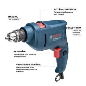 Furadeira de Impacto Bosch GSB 450 RE R$160