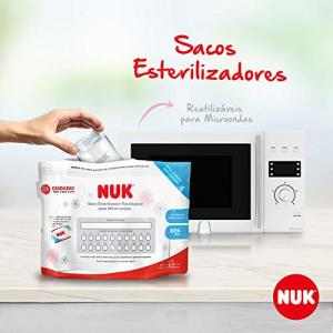 Saco Esterilizador Para Micro-Ondas Reutilizável, NUK, Branca | R$32