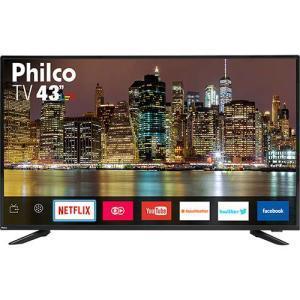 """Smart TV LED 43"""" Philco PTV43E60SN Full HD com Conversor Digital 3 HDMI 2 USB Wi-Fi MidiaCast por R$ 1260"""