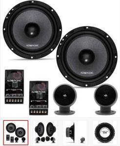 Kit 2 Vias Par Alto Falante Audiophonic 6,5 Polegadas + 2 Tweeters + 2 Crossovers 160W RMS 4 Ohms