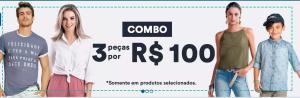 3 Peças Selecionadas por R$100 na Hering