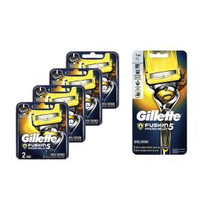 Kit Aparelho de Barbear Recarregável + 8 Cargas Gillette Fusion Proshield  Por R$71 + frete
