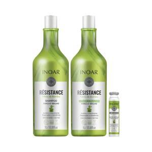 Kit Inoar Résistance Fibra de Bambu Shampoo+Condicionador 1000ml Grátis Ampola 45ml - R$35