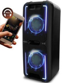 Caixa Acústica Philco PCX5500 Effects Com Conexão Bluetooth - Bivolt | R$450