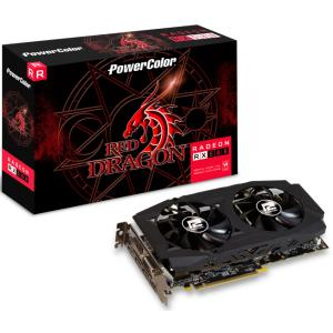 PLACA DE VÍDEO POWERCOLOR RADEON RED DRAGON RX 590 8GB AXRX-590-8GBD5-DHD 256BIT GDDR5 PCI-EXP - R$1217