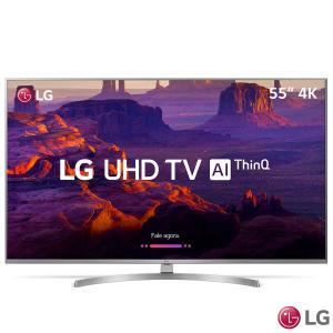 """Smart TV LG 55"""" LED 55UK7500 Ultra HD 4K ThinQ AI, HDR 10, 4 HDMI e 2 USB - R$ 3028"""