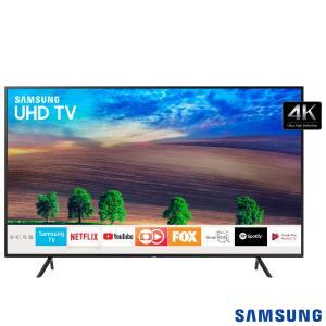 "Smart TV UHD 4K Samsung LED 49"" com Solução Inteligente de Cabos, HDR Premium e Plataforma Smart Tizen - UN49NU7100GXZD - R$2034"