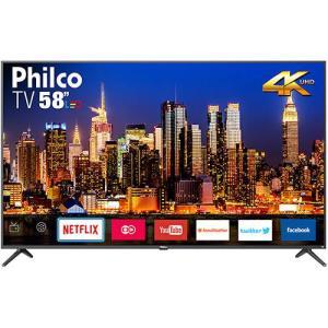 """Smart TV LED 58"""" Philco PTV58f60SN Ultra HD 4k com Conversor Digital por R$ 2340"""
