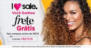 Frete grátis nas compras a partir de R$79 na Beleza na Web. Somente hoje!