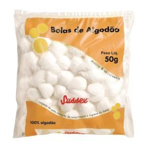 Bolas de Algodão Brancas 50g | R$2