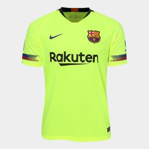 Camisa Barcelona Away 2018 s/n° - Torcedor Nike Masculina - Verde por R$ 135