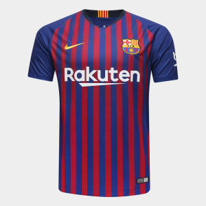 Camisa Barcelona Home 2018 s/n° Torcedor Nike Masculina - Azul e Grená por R$ 144