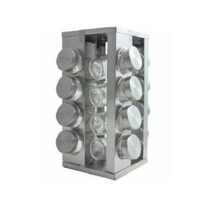 [R$ 58,95 com AME] Porta Temperos Giratório Inox 16 Potes 3101