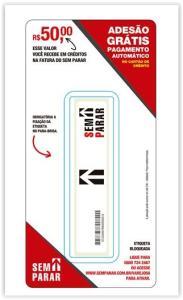 Etiqueta Eletrônica Sem Parar com R$ 50 de Crédito por R$ 19