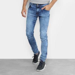 Calça Jeans Masculina Marmorizada