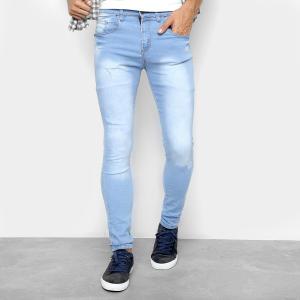 Calça jeans masculina azul claro