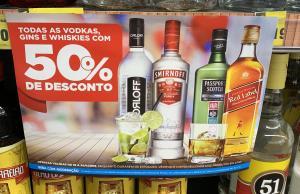 [DIA] 50% de desconto todas as vodkas, gins e whiskies (Lojas Físicas)