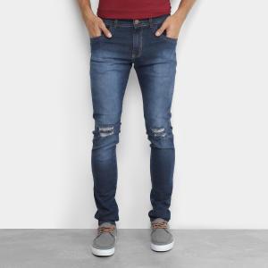 Calça Jeans Masculina com detalhe no joelho
