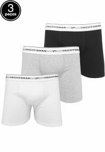 Kit 3pçs Cueca Yachtsman Boxer