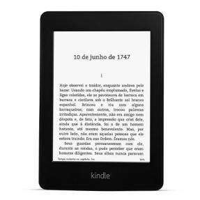 """E-Reader Amazon Novo Kindle Paperwhite 8GB Wi-fi à Prova D Água Tela 6"""" Iluminação Embutida Preto R$396"""