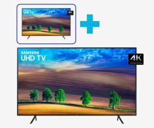 """[Dia das Mães] 2 Tvs Samsung 4k: Uma de 49"""" + Uma de 55''  de R$9.098 por 4.398"""