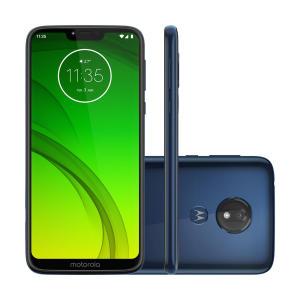 "Smartphone Motorola Moto G7 Power Azul Navy, Dual Chip, Tela 6,2"", 4G+Wi-Fi, Android Pie, 12MP, 32GB | R$995"