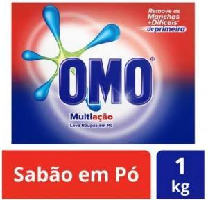 [App - Magazine Luiza] Sabão em pó OMO Multiação - 1kg - R$6,99