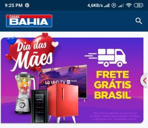 Frete Grátis no app da Casas Bahia