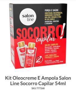 Kit Oleocreme E Ampola Salon Line Socorro Capilar 54ml | R$13
