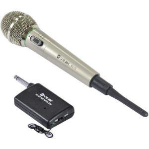 [R$ 43,25 com AME] Microfone Vinik Vocal MV70 - Prata Com Fio E Adap. Para Sem Fio