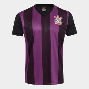 Camisa Corinthians 2009 s/n° Masculina/Feminina - Roxo e Preto por R$ 35