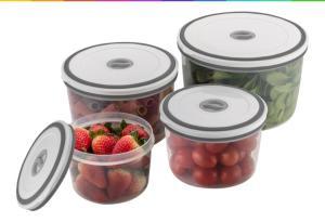Jogo de 4 Potes de Plástico Redondo Hermético Electrolux