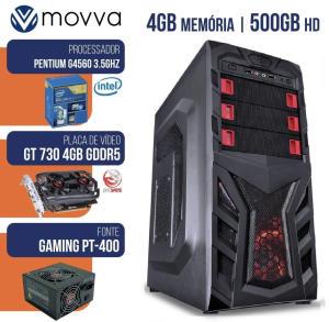 [R$ 1009,75 com AME] Computador Mvxp Intel Pentium G4560 3.5ghz 7ª Ger Mem 4gb HD 500gb Vga Gt 730 4gb Fonte