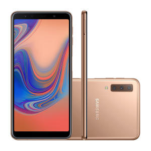 """Smartphone Samsung Galaxy A7 64GB Cobre 4G Tela 6.0""""  por R$ 1349"""