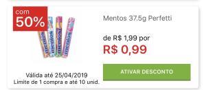 [APP] [lojas físicas] Mentos R$1 Ativando pelo app