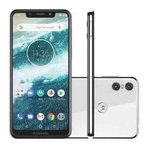"Smartphone Motorola Moto One 64GB White 4G Tela 5,9""  por R$ 1099"