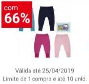 [App Americanas - Loja Física] Kit com Duas calças Virapé DelRio Baby - R$10