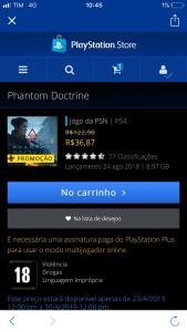 Phantom Doctrine ps4 apenas Plus