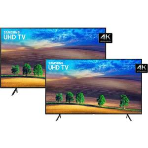 [R$ 3.958,00 com AME] Smart TV LED 55'' Samsung Ultra HD 4k 55NU7100 + Smart TV LED 49'' Samsung Ultra HD 4k 49NU7100