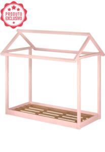 Mini Cama Montessoriana Juvenil Rosa Giz Serpil | R$283