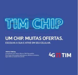 Chip TIM 4G  Pré pago
