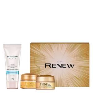 [Primeira compra] Renew Dia + Renew Noite + Sabonete Gel - Caixa de Presente Renew