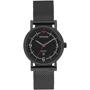 Relógio Technos Unissex Slim Preto - 9u13aa/4p R$189