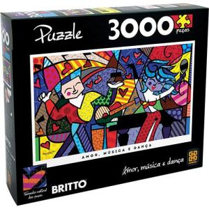 Puzzle - Quebra Cabeça Romero Britto Latin Grammy - Grow | R$85