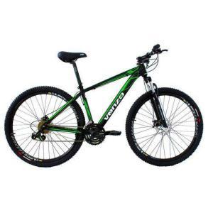 Bicicleta Aro 29er Freio A Disco 24 Marchas Shimano Preto Verde - Venzo Falcon | R$1.439