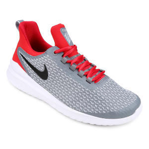 Tênis Nike Renew Rival Masculino - Cinza e Vermelho   R$172