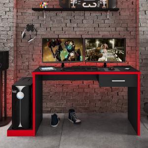 Mesa Gamer 1 Gaveta DRX 9000 Móveis Leão - R$221