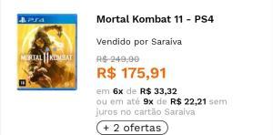Mortal kombat 11 (ps4) ou (xbox one)