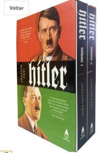 Box com a biografia de Adolf Hitler